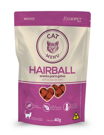 Petisco Cat Menu Hairball Luopet